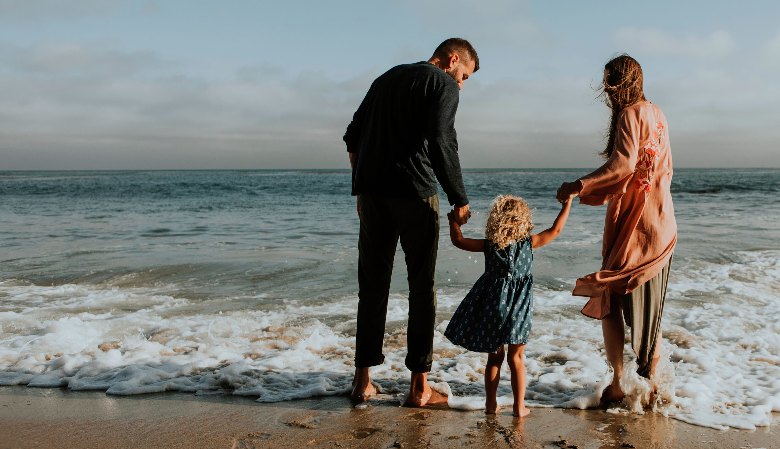 Família a la platja